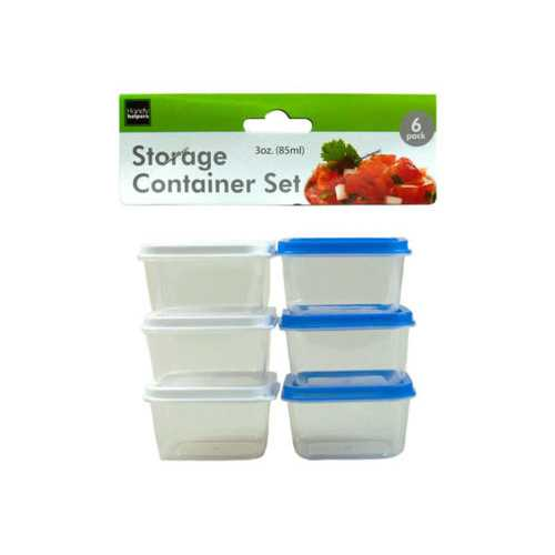6 Pack 3 ounce Storage Box Set ( Case of 24 )