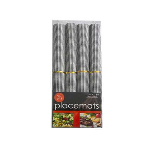 4 piece rolled placemats ( Case of 5 )