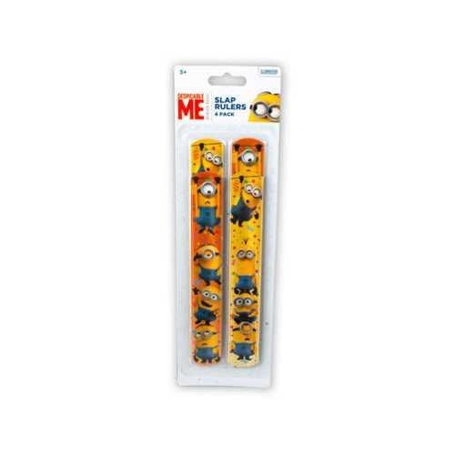 Minions 4 Pack Slap Bracelets ( Case of 24 )
