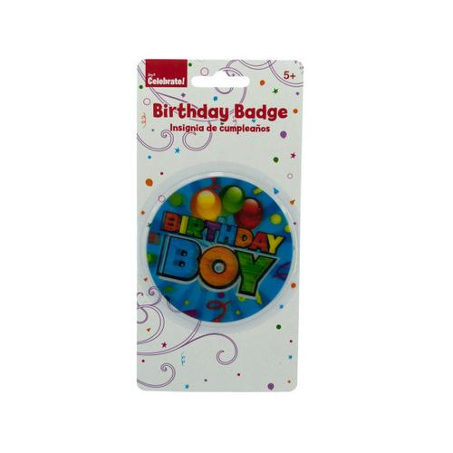 Holographic Birthday Boy Badge ( Case of 48 )