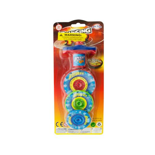 3 Layer Bouncing Top Spinner Toy ( Case of 48 )