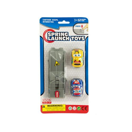 Press & Go Spring Launch Toy Cars Set ( Case of 24 )