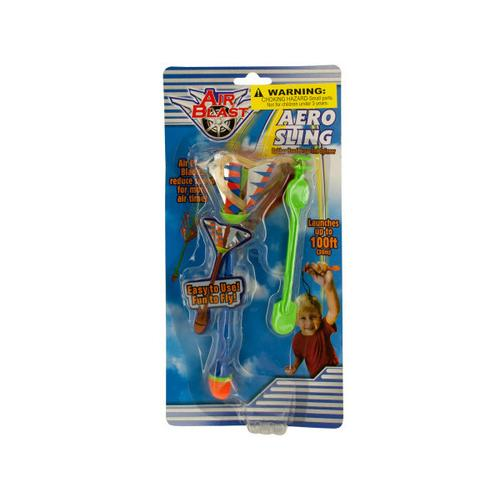 Aero Sling Rubber Band Spinner Toy ( Case of 48 )