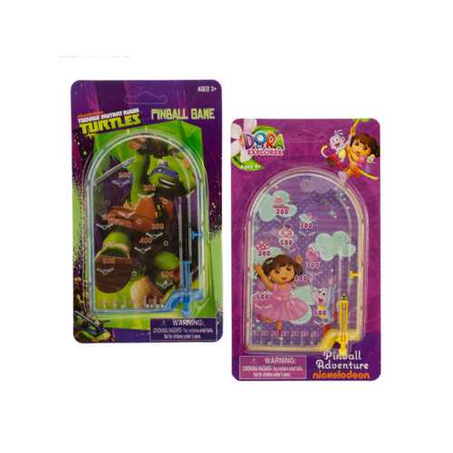 Assorted Dora & Ninja Turtles Licensed Kids' Pinball Game ( Case of 24 )