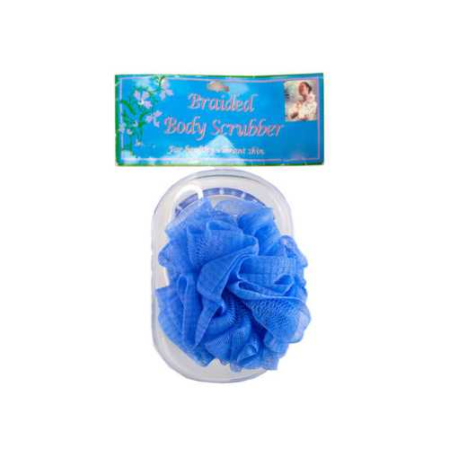 Body Scrubber with Tray in Assorted Colors ( Case of 48 )
