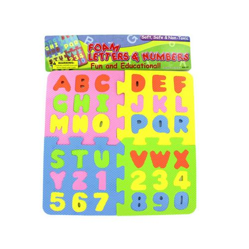 Foam Letter & Number Puzzle ( Case of 12 )