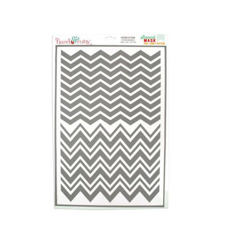 Chevron Patterns Stencil Masks ( Case of 18 )