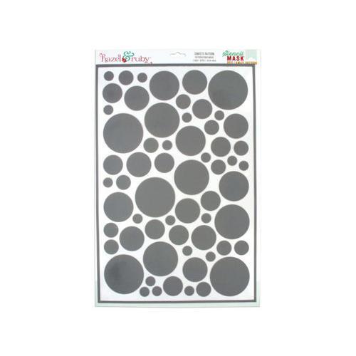 Confetti Pattern Stencil Masks ( Case of 54 )