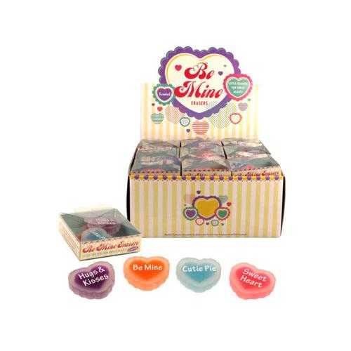 Be Mine Scented Erasers Countertop Display ( Case of 36 )