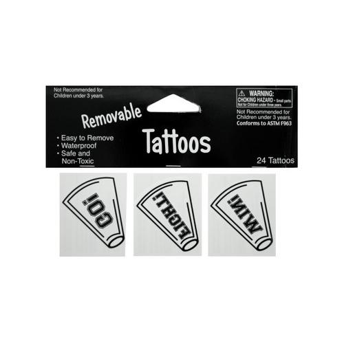 Removable White Cheer Tattoos ( Case of 48 )
