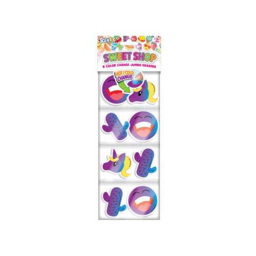 Sweet Shop Color Change Jumbo Erasers Set ( Case of 72 )