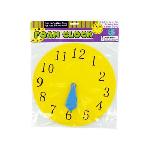Educational Foam Clock ( Case of 12 )