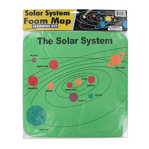 Solar System Foam Map Learning Kit ( Case of 24 )