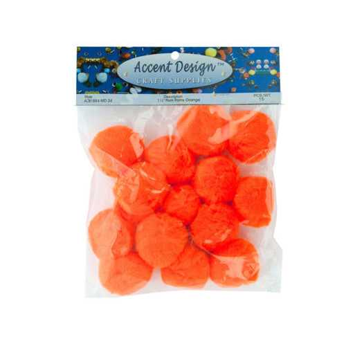 Orange Craft Pom Poms Set ( Case of 48 )