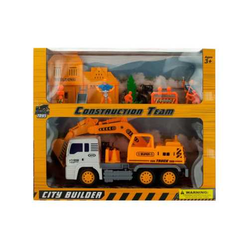 Friction Powered Loader Truck & Construction Team Set ( Case of 4 )