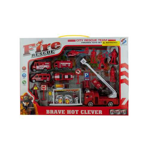 Fire Rescue Team Play Set ( Case of 4 )