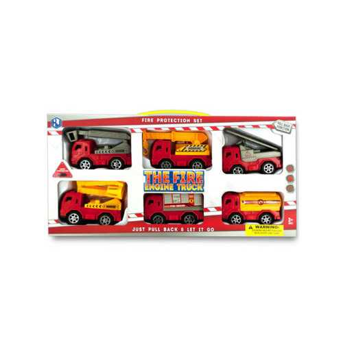 Fire Engine Truck Set ( Case of 6 )