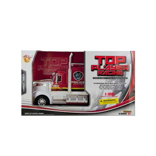 Friction Powered Police Semi-Trailer Truck ( Case of 6 )