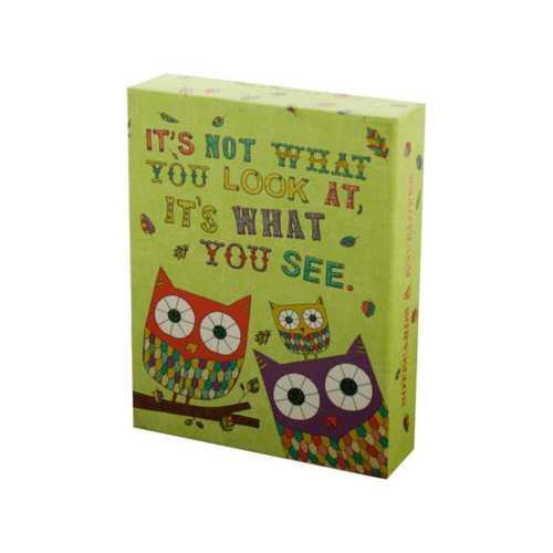 Owl & Snail Sayings Notecards & Envelopes Set ( Case of 24 )
