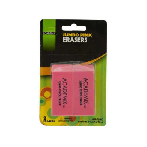 Jumbo Pink Pencil Eraser Set ( Case of 24 )