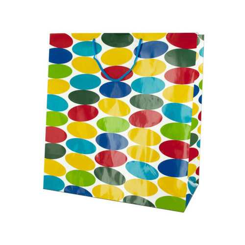 Extra Large Multi-Colored Dots Gift Bag ( Case of 72 )