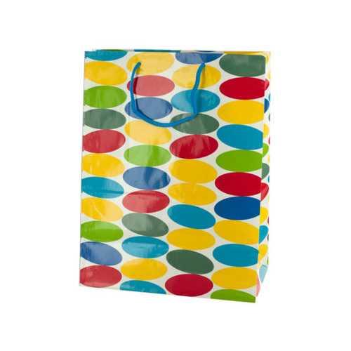 Medium Multi-Colored Dots Gift Bag ( Case of 48 )