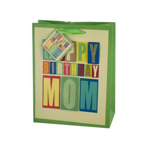Medium Block Letter Birthday Gift Bag ( Case of 24 )