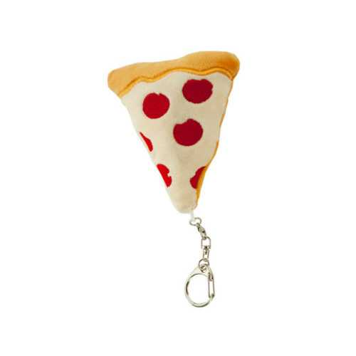 Plush Pizza Emoticon Keychain ( Case of 72 )