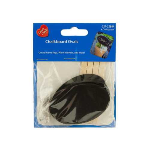 Mini Craft Chalkboard Ovals ( Case of 24 )