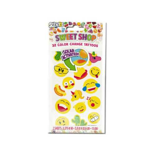 Scentos Sweet Shop Color Change Tattoos ( Case of 24 )