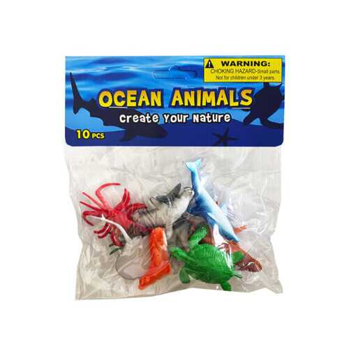 10 piece ocean animals ( Case of 36 )