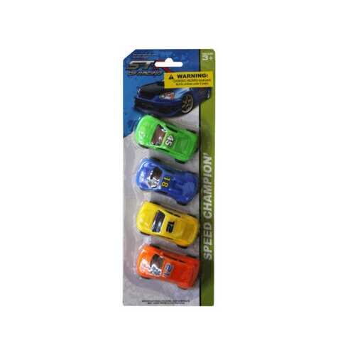 4 piece free wheel racers ( Case of 36 )
