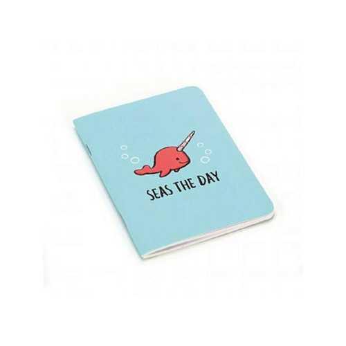 Seas The Day Mini Notepad in Aqua ( Case of 48 )