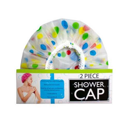 2 piece shower cap w/balloon design ( Case of 12 )