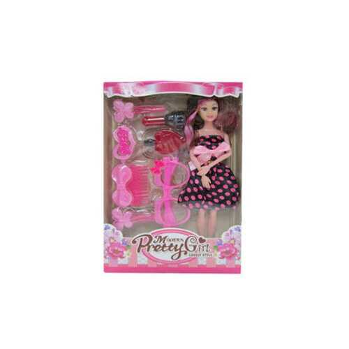 "11"" bendable beauty doll w/accessories ( Case of 6 )"