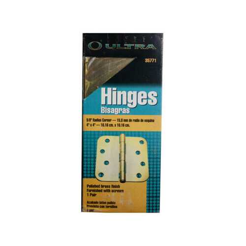 25mm brass door hinges in box ( Case of 25 )