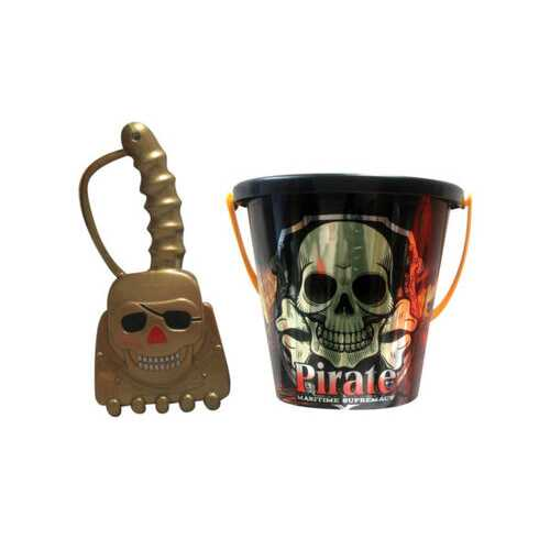 assorted 6'' pirate bucket with shovel ( Case of 72 )