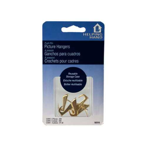 Helping Hands 5 Pc Picture Hanging Push Pins ( Case of 24 )