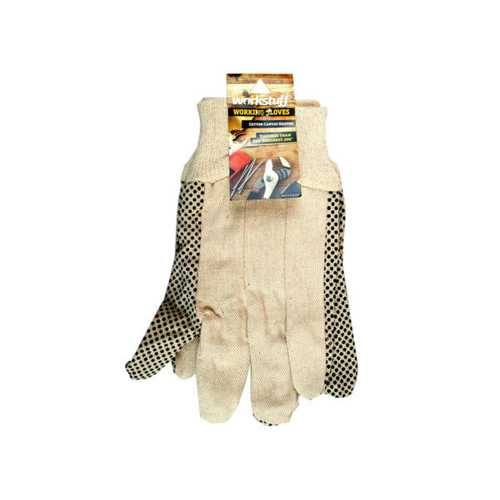 Universal Size Cotton Canvas Gripper Working Gloves ( Case of 24 )