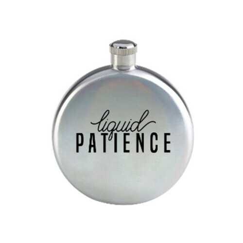 liquid patience 3oz silver flask ( Case of 8 )