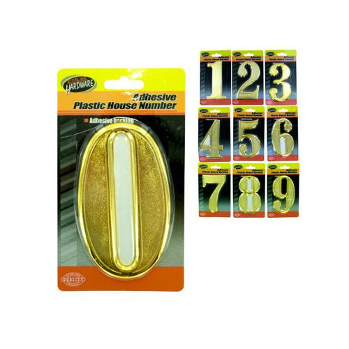 Adhesive Plastic House Numbers ( Case of 60 )