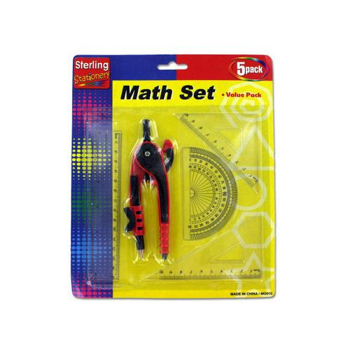 Math Measuring Set with Pencil ( Case of 72 )