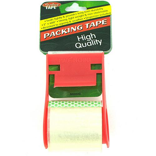 Packing Tape with Dispenser ( Case of 48 )