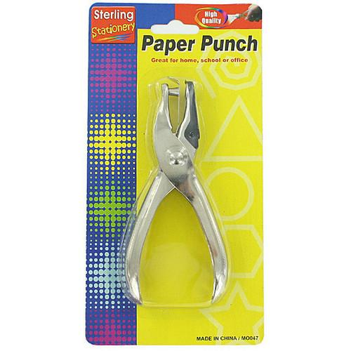Single Hole Paper Punch ( Case of 24 )