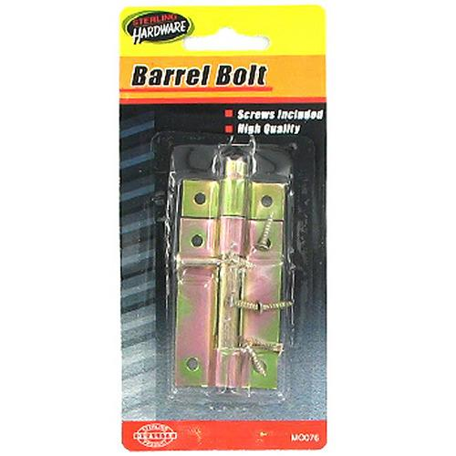 Barrel Bolt with Screws ( Case of 72 )