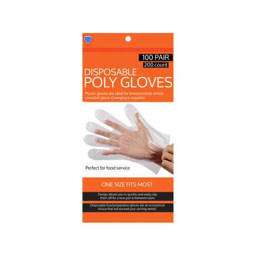 200 Pack Disposable Gloves ( Case of 24 )