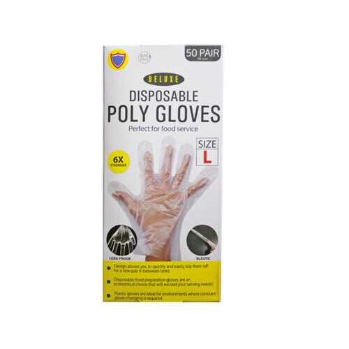 100 Pack Large TPE Glove ( Case of 12 )