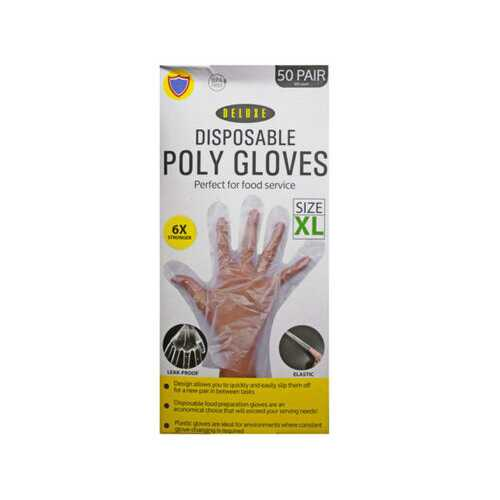 100 pack xlarge tpe glove ( Case of 3 )