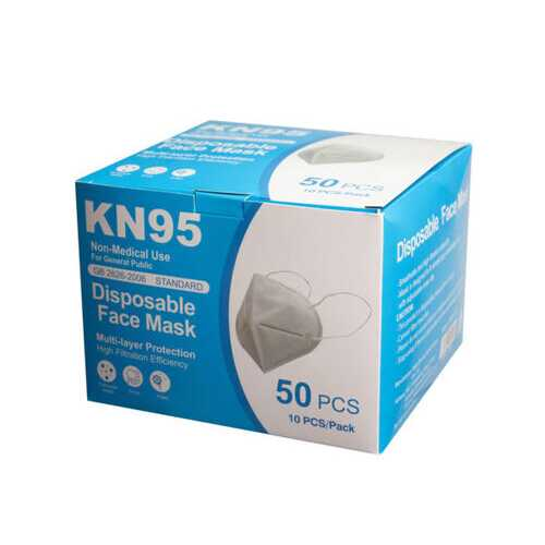 10 Pack KN95 Protective Face Masks ( Case of 5 )