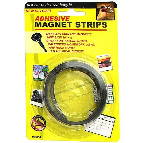 Adhesive Magnet Strips ( Case of 48 )